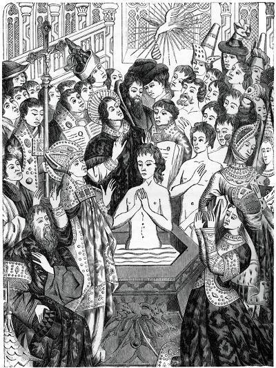 Baptism of King Clovis, Rheims--Giclee Print