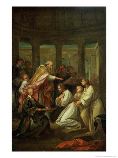 Baptism of St. Augustine-Louis De, The Younger Boulogne-Giclee Print
