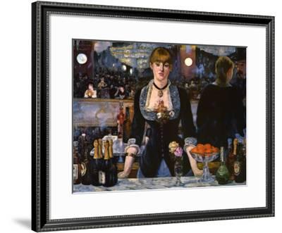 Bar at the Folies-Bergere, 1882-Edouard Manet-Framed Art Print