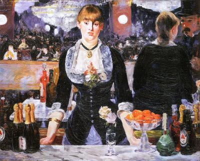 Bar at the Folies-Bergere, c.1882-Edouard Manet-Framed Textured Art