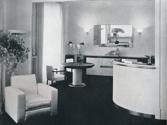'Bar corner of a dining room designed by Jacques Adnet', c1940-Unknown-Photographic Print