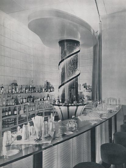 'Bar for a Garden Club Restaurant', 1942-Unknown-Photographic Print