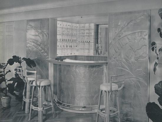 'Bar in the home of Mr. and Mrs. Miles Gray', 1942-Unknown-Photographic Print