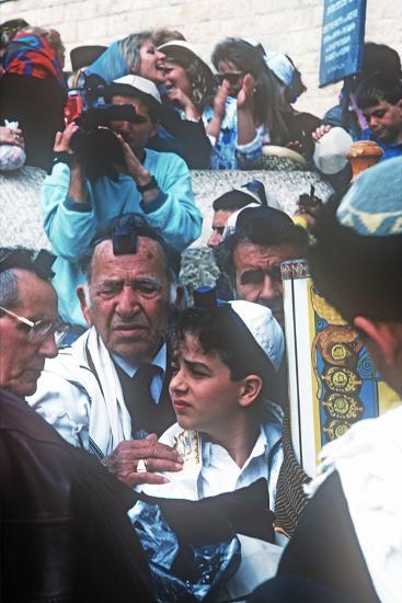 Bar Mitzvah, Wailing Wail, Jerusalem, Israel--Photographic Print