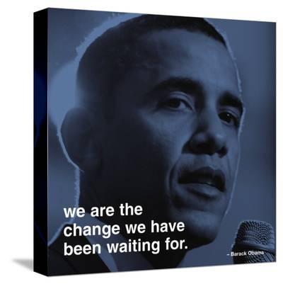 Barack Obama: Change--Stretched Canvas Print