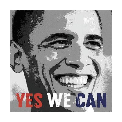 Barack Obama: Yes We Can--Giclee Print