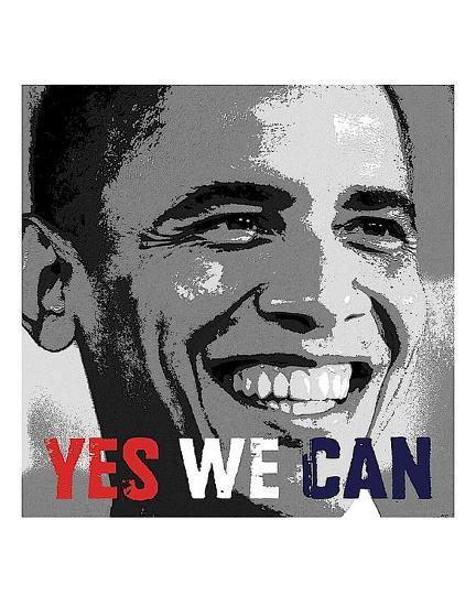 Barack Obama: Yes We Can-Celebrity Photography-Art Print