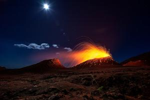Lava Flow With the Moon by Barathieu Gabriel