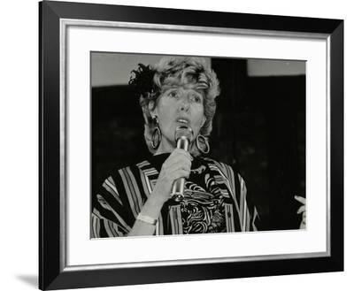 Barbara Jay in Concert with Tommy Whittle-Denis Williams-Framed Photographic Print
