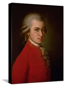 Wolfgang Amadeus Mozart, Posthumes Portrait, 1819 by Barbara Krafft