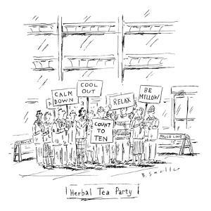 "(""Herbal Tea Party"") - New Yorker Cartoon by Barbara Smaller"
