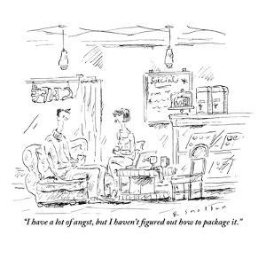 """""""I have a lot of angst, but I haven't figured out how to package it."""" - New Yorker Cartoon by Barbara Smaller"""