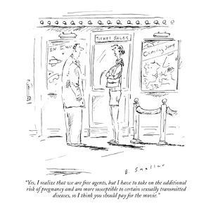 """Yes, I realize that we are free agents, but I have to take on the additio?"" - New Yorker Cartoon by Barbara Smaller"