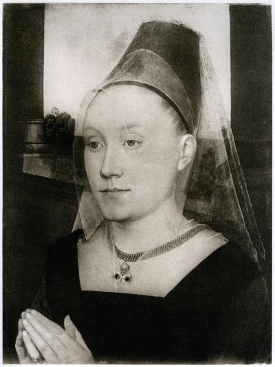 Barbara Van Vlaenderbergh, Wife of Guillaume Moreel, C1480-Hans Memling-Giclee Print