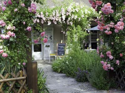 Cafe Les Nymphias in Giverny, Opposite the Entrance to Monet's Gardens