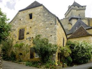 House in Village of Castelnaud at the Foot of Castenuad Castle by Barbara Van Zanten