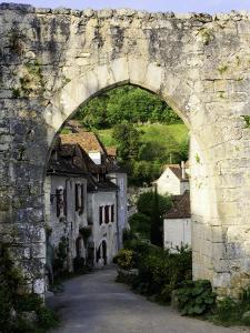 Porte De Rocamadour on the Pilgrim's Route to St Jacques De Compostela by Barbara Van Zanten