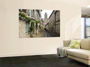 Rue Du Four Bas Leading to Gothic Church St. Maur by Barbara Van Zanten