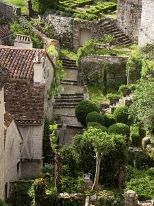 Tiny Gardens and Roof Terraces in St Cirq Lapopie by Barbara Van Zanten