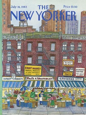 The New Yorker Cover - July 18, 1983