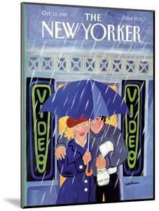 The New Yorker Cover - October 12, 1987 by Barbara Westman