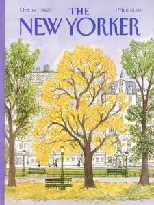 The New Yorker Cover - October 14, 1985 by Barbara Westman
