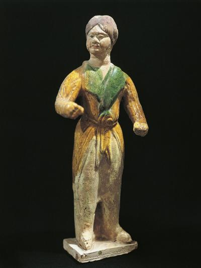 Barbarian, Painted Terracotta Statue, China, Tang Dynasty, 7th-10th Century--Giclee Print