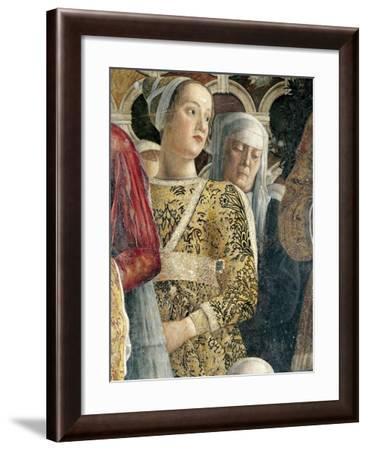 Barbarina Gonzaga, Detail from Court Wall-Andrea Mantegna-Framed Giclee Print