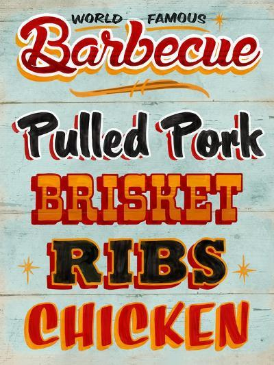 Barbeque Board Distressed-Retroplanet-Giclee Print