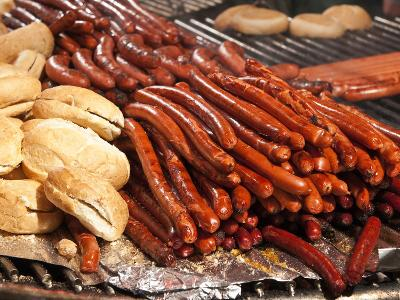 Barbequed Meats at the Stuttgart Beer Festival, Cannstatter Wasen, Stuttgart, Baden-Wurttemberg, Ge-Michael DeFreitas-Photographic Print