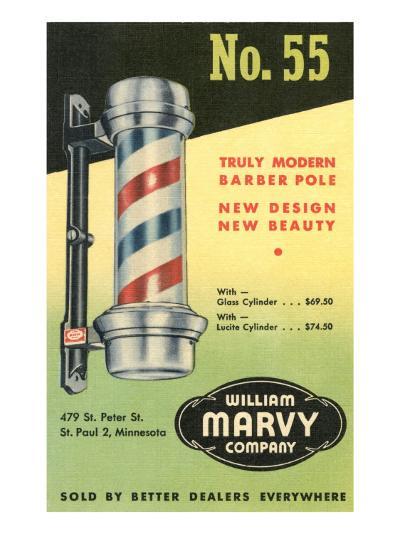 Barber Pole Advetisement--Art Print