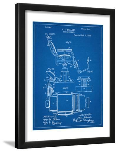 Barber's Chair Patent--Framed Art Print