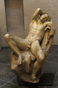 Barberini Faun. a Sleeping Satyr. About 220 BC. Greek Baroque. Roman Copy. Glyptothek. Munich