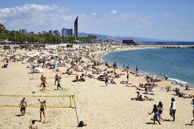 Barcelona Beach, Barcelona, Catalonia, Spain-Mark Mawson-Photographic Print