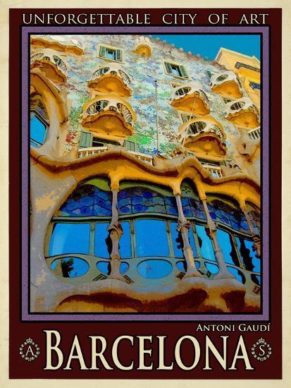 Barcelona Spain 5-Anna Siena-Giclee Print