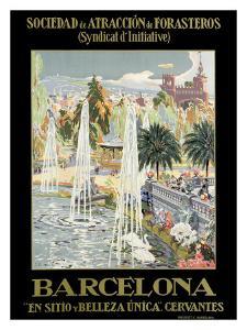 Barcelona Spain Fountain