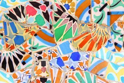 Barcelona, Spain - Gaudi Mosaic-Tupungato-Photographic Print