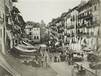 Barcelona Street Scene, c.1880s--Giclee Print