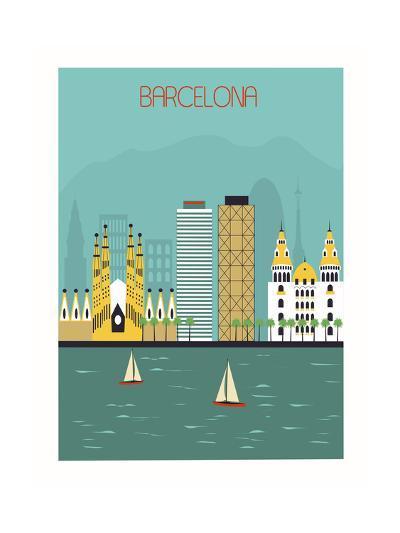 Barcelona.-Ladoga-Art Print