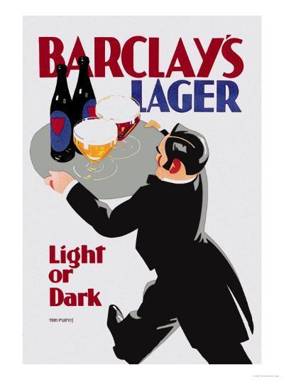 Barclay's Lager: Light or Dark-Tom Purvis-Art Print