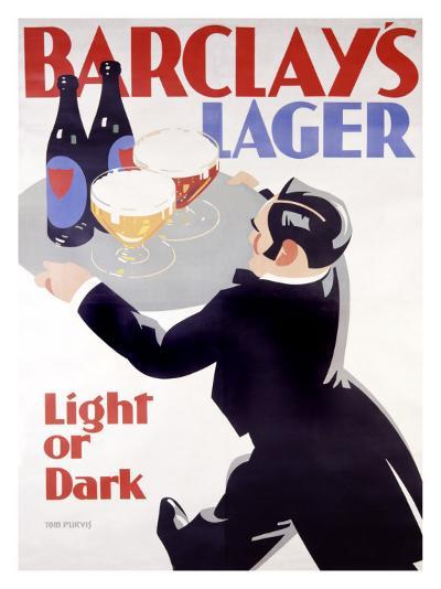 Barclay's Lager-Tom Purvis-Giclee Print