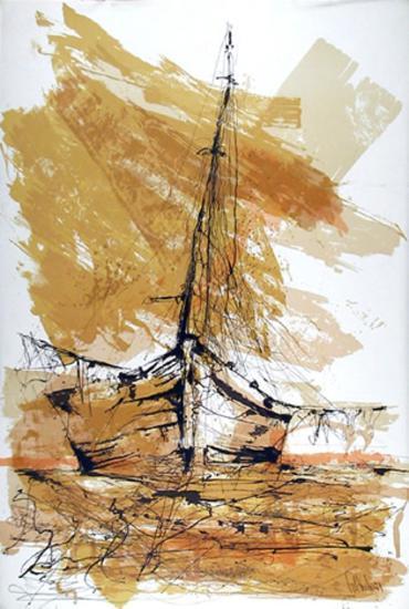 Barco de Madrugada-Gino Hollander-Collectable Print