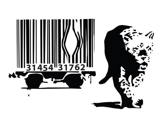 Barcode-Banksy-Art Print