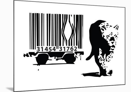 Barcode-Banksy-Mounted Giclee Print