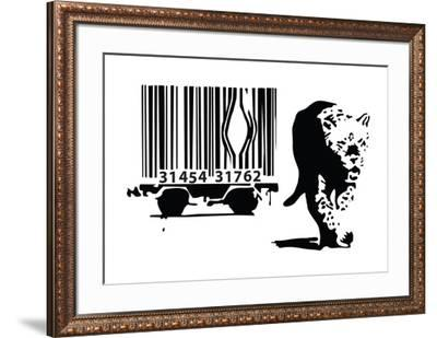 Barcode-Banksy-Framed Giclee Print