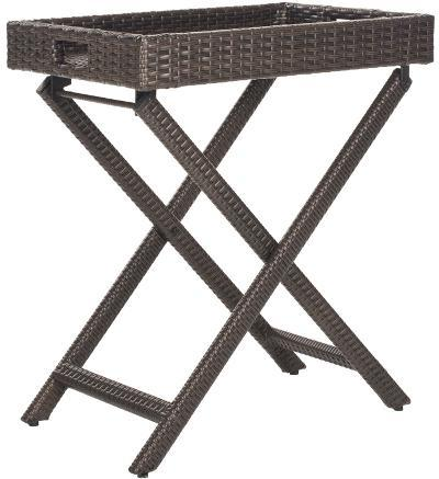 Bardia Folding Tray Table - Brown--Home Accessories