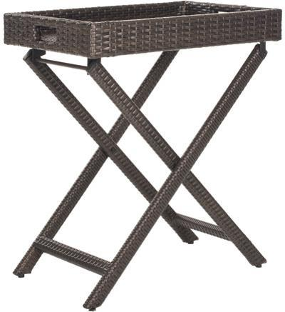 Bardia Folding Tray Table - Brown