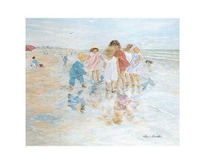 Barefoot at the Seashore-H?l?ne L?veill?e-Art Print