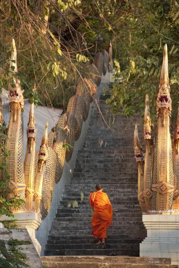 Barefooted Buddhist Monks in Chiang Mai Thailand-10 FACE-Photographic Print