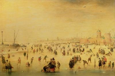 Skaters on a Frozen River, 17th Century